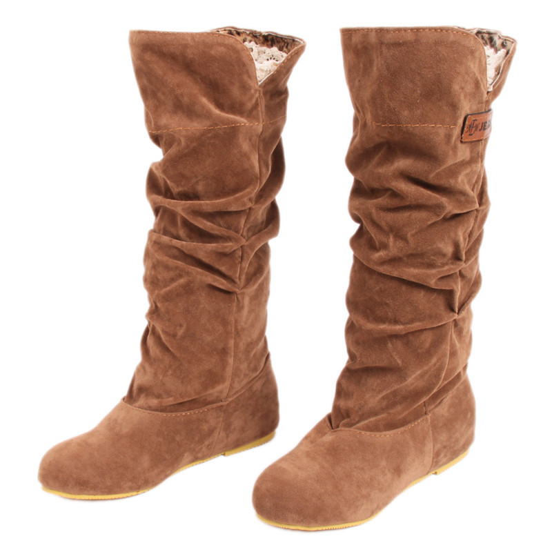 Aliexpress.com : Buy Autumn Winter Boots Women Female Round Toe ...