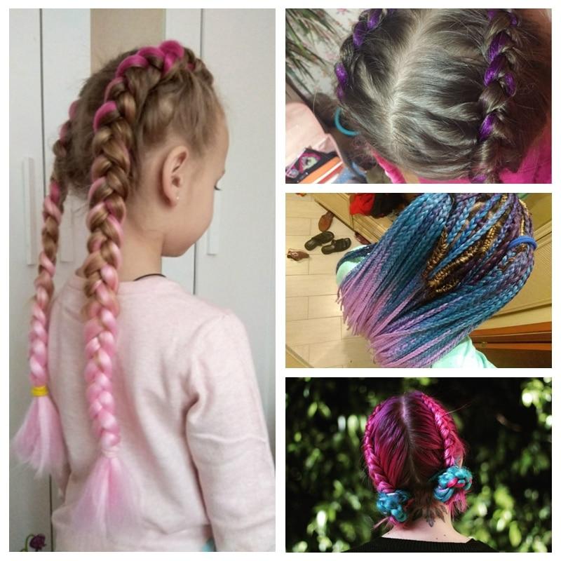 Reliable Vigorous 82inch Kanekalon Jumbo Braid Hair Crochet Long Braids Synthetic Briding Hair For Women Pure Color Blonde Pink Brown Jumbo Braids Hair Braids