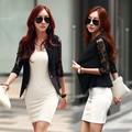 Promoção 2015 Mulheres Blazer Ocasional Sexy Preto Branco Ternos Jaqueta Curta Outerwear 2 Cores atacado 12