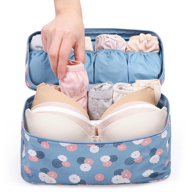 New Women Makeup Bag Travel For Bra Underwear Lingerie Organizer Storage Bags Cosmetic Luggage Storage Box Cosmetic Make-up Bag