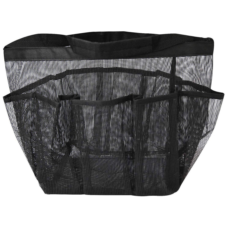 Malla ducha Caddy, secado rápido ducha bolsa Oxford tocador y baño organizador con 8 compartimentos de almacenamiento para Shampo
