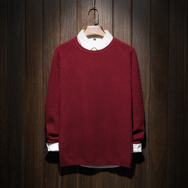 Brand New Sweater Men 2016 Fashion Solid Knitted Pullovers Men Long Sleeve Knitwear Male Long Sleeve Slim Fit Mens Sweaters 5XL