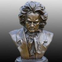 Бюст Бетховена латунь как композитор пианист исследование отель украшения Скульптура Saat