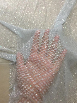 5yards new dobby  bzh08 # color 26-074 dobby dot hand print glitter  mesh tulle lace fabric for sawing wedding dress