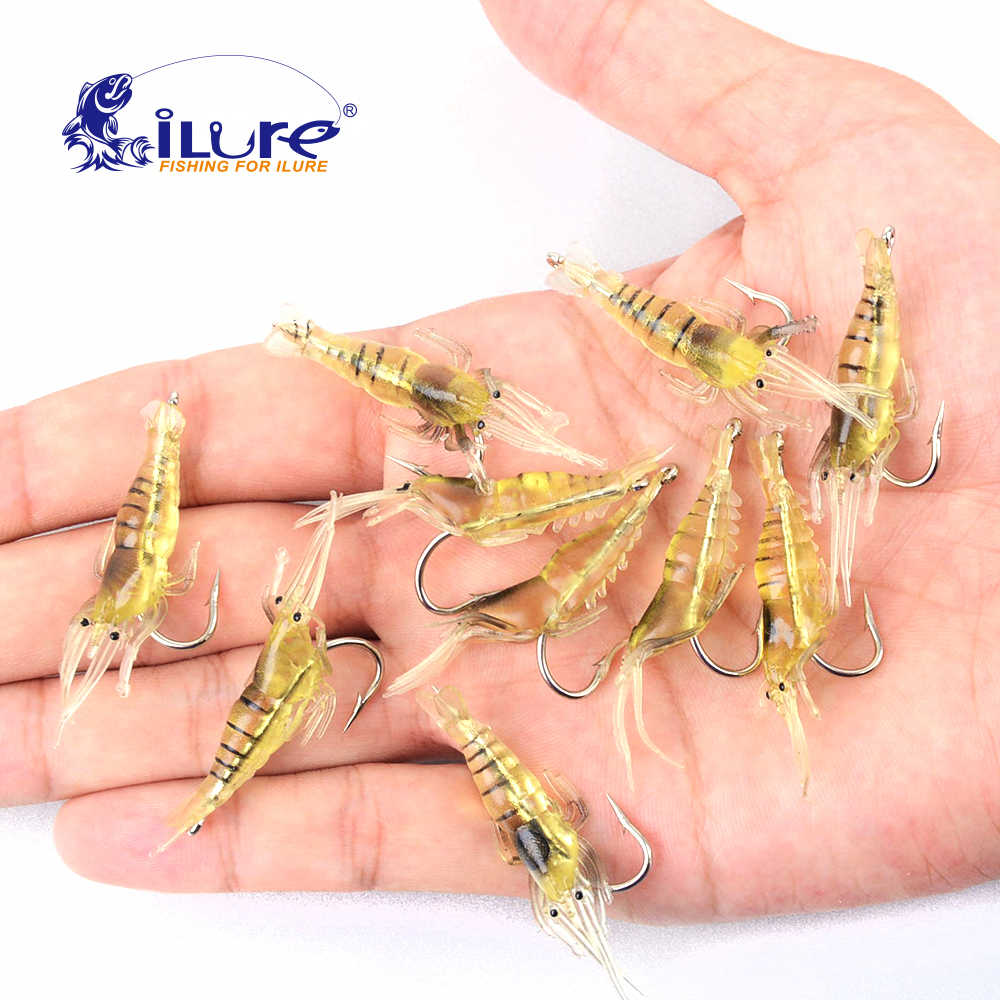 iLure 10 ცალი / ტომარა 4.5cm 2g Lifesaving Fishing Lures Soft Lures Lures Soft Lures Hooks Shrimps Soft Lures Locks Souple Crankbait