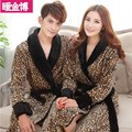 and women age matching flannel Coral Fleece Winter new bathrobe Nightgown Pajamas Home Furnishing super thick clothes
