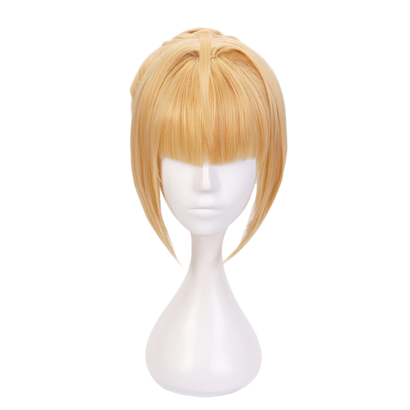 Fate/Extra Red Saber Nero Claudius Wig Cosplay Costume Fate Grand Order Artoria Pendragon Women Synthetic Hair Party Wigs