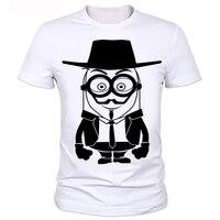Michael Jackson Version Of Cartoon Men S T Shirt Wear A Hat Of Minions T Shirts