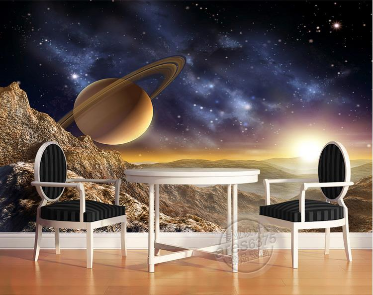 custom room mural 3d photo wallpaper non-woven wall sticker Moon Star Wars space photo TV sofa background wallpaper for walls 3d 3d murals wallpaper hd paris window photo custom non woven sticker room sofa tv background wall painting wallpaper for walls 3d