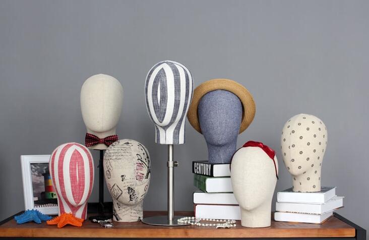 En gros 4 style tête de femme mannequin chapeau hoop lunettes magasin de vêtements cintre accessoires d'affichage réglable corps modèle 1 PC B606