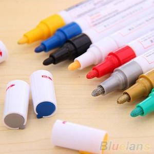 Image 1 - 12 Colors Waterproof Car Tyre Tire Tread Rubber Metal Permanent Paint Marker Pen
