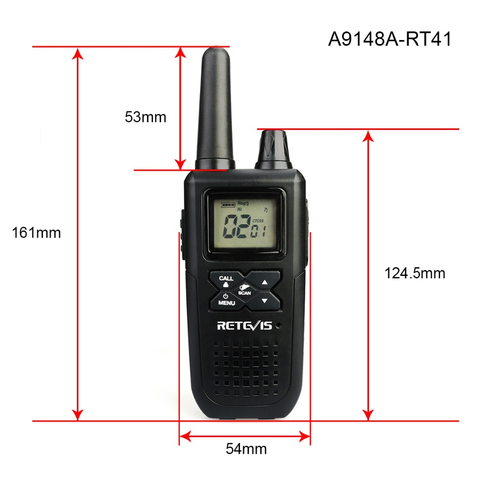 Image 5 - 2pcs RETEVIS RT41 Two way Radio VOX License free FRS Portable Mini Walkie talkie NOAA Weather Alert USB Charging Walkie Talkie-in Walkie Talkie from Cellphones & Telecommunications