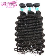 Weave Virgin-Hair Deep-Wave Berrys Fashion 3-Bundles 100%Human-Hair-Extension Brazilian