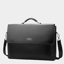 2019 Fashion Business Leather Men Briefcase Laptop Handbag Tote Casual Man Bag For male Shoulder Bag Male Office  Messenger Bag men fashion business handbag dual use handbag shoulder bag tote flap bag chest bag