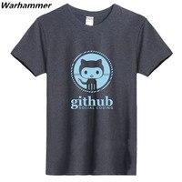 Мастер Linux программист GitHub социальных кодирования Geek мужские модные футболки с круглым вырезом 100% хлопок 220gms Обувь для мальчиков одноцветн...