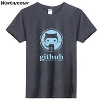 GEEK Linux Programmer Github Social Coding Tee Man Summer Tshirts Tee Oneck Big Yard Cotton Good