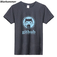 GEEK Linux Programmer Github Social Coding Tee Man Summer Tshirts Tee Oneck Big Yard Cotton Good