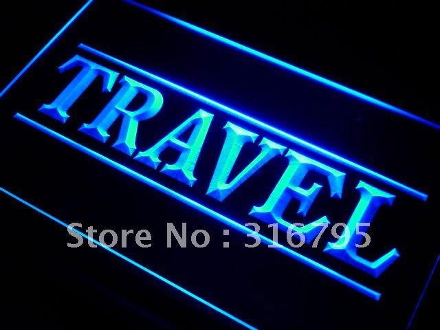 i284 Travel agency service LED Neon Light Sign On/Off Switch 20+ Colors 5 Sizes