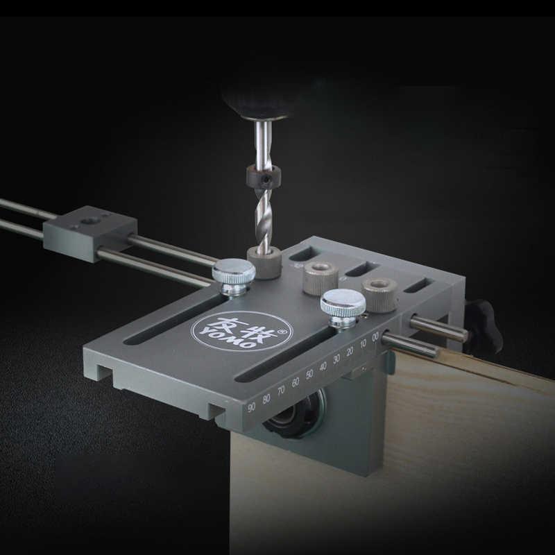 3 en 1 bricolage menuiserie trou perceuse positionneur Guide localisateur gabarit menuiserie système Kit Aluminium alliage bois outil de travail