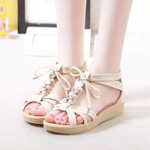 2e04761a756ef7 Noopula Sandalia Feminina Designer Shoes Woman Summer Shoes Wedges Sandals  Designer Sandal Femmes Sandale Girls Wedge Woman-in Women s Sandals from  Shoes on ...