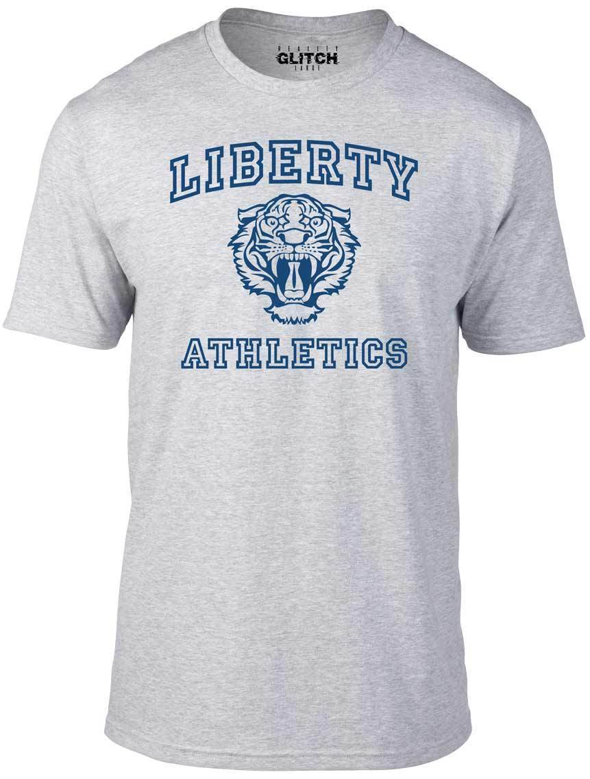 Liberty Athletics T Shirt Men 39 s Tee 13 Reasons Tiger Pride Why Basketball High Harajuku Tops Fashion Classic Unique t Shirt in T Shirts from Men 39 s Clothing