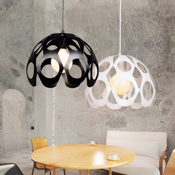 Simple Style Nordic Iron Restaurant Living Room Chandelier American Creative Study Office Modern Chandelier Free Shipping chandelier dome fashion fabric chandelier creative engineering lamps living room hotel club restaurant free shipping