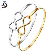 Stainless Steel Women Bracelets Charming Bangles Gold Silver Color Love Cuff Bracelet Luxury Brand Jewellery Wedding
