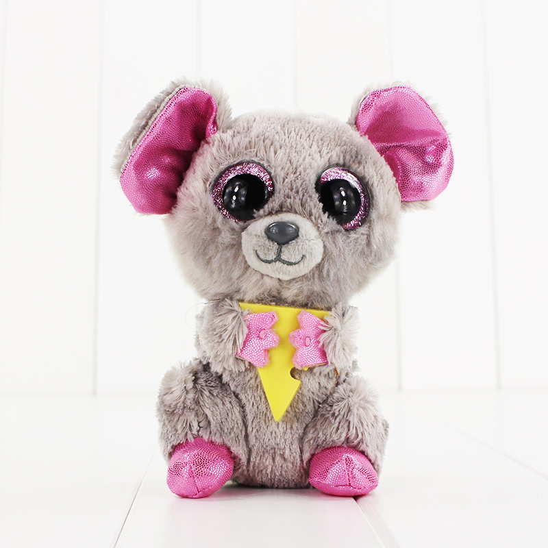 15cm Ty Beanie Boos Big Eyes Plush Toy Doll Gray Koala TY Baby Kids Gift Collection