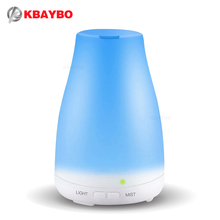 KBAYBO Difusor de Aceites esenciales, 100 ml Aceite Esencial De Aroma Humidificador de Vapor Frío, 7 Luces LED Que Cambian de Color para la Oficina En Casa Bebé