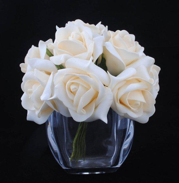 HOT SALE!!! Free Shipping 10stems/bunch Foam Rose Flower Wedding ...