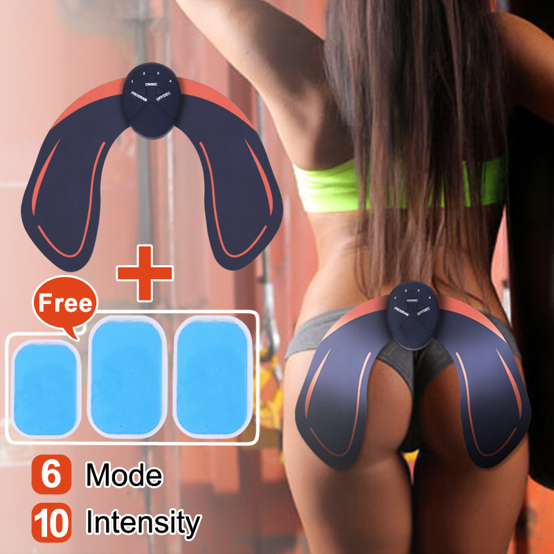 KLASVSA Electrical Hip EMS Muscle Stimulator Ass Trainer ABS Fitness Buttocks Toner Tighter Abdominal Vibrator Massager Pad