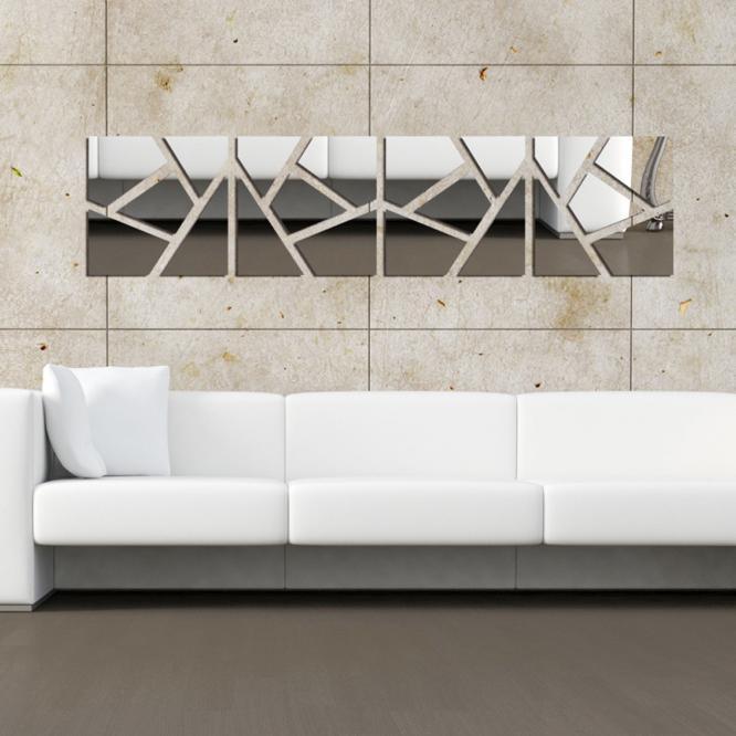 3D Acrylique Miroir Surface HEXAGONE forme libre Combinaison Bricolage Autocollant Mural