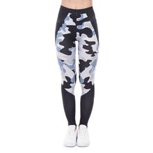 Fitness Leggings Elegant Pants Printing Black High-Waist Triangles Camo Fashion Women