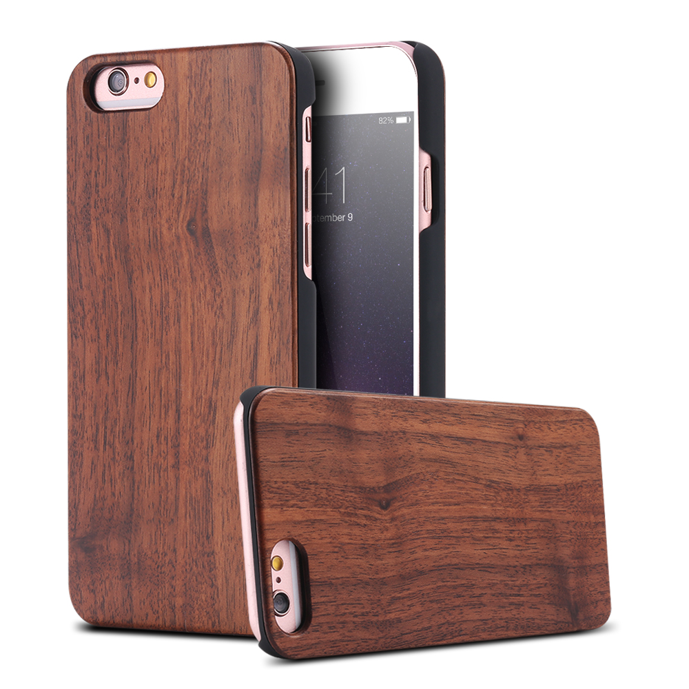 OEM Wood Case For iPhone X 7 6 6S Plus 5 5S Original Natural Bamboo Cases For Samsung Galaxy S8 S6 S7 Edge Back Cover