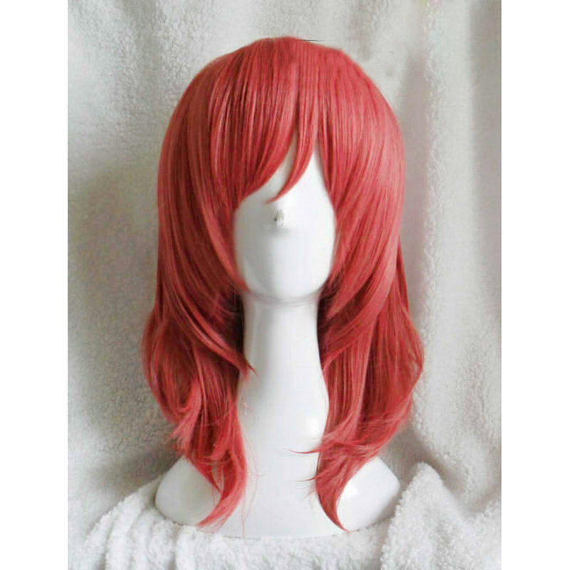 LoveLive! Love Live Maki Nishikino Short Red Heat Resistant Cosplay Costume Wig + Wig Cap
