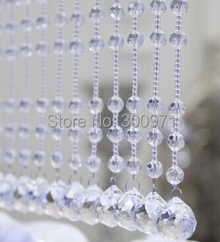 20M/lot Crystal Garland, CRYSTAL GLASS CURTAIN STRANDS, Glass Crystal Strands,home/WINDOW/DOOR CURTAIN decoration, free shipping