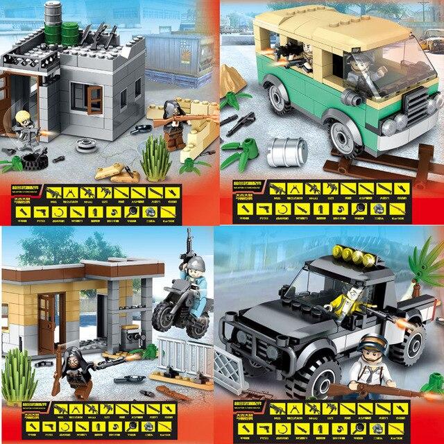 2018 NEW PUBG FPS Game MILITARY Winner Winner Chicken Dinner Soldier Army SWAT Building Blocks Figures Educational Toys Boys Set