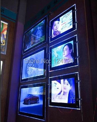 hanging crystal light frame a1custom led poster frames double sided ultra thin led light box led advertising free shipping