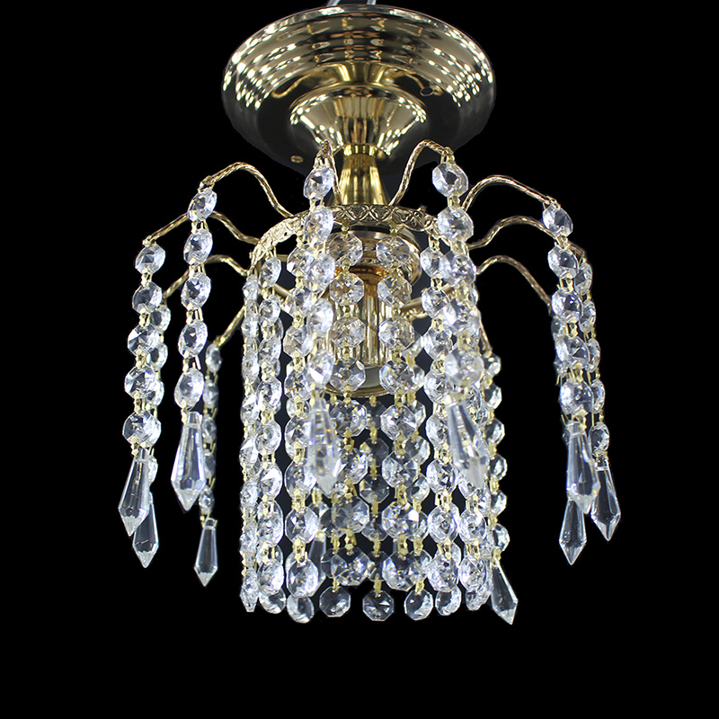 Moderne loft gold farbe retro kristall glanz Decke Lichter E27 Plafonnier LED decke Lampe Leuchte Für Wohnzimmer schlafzimmer