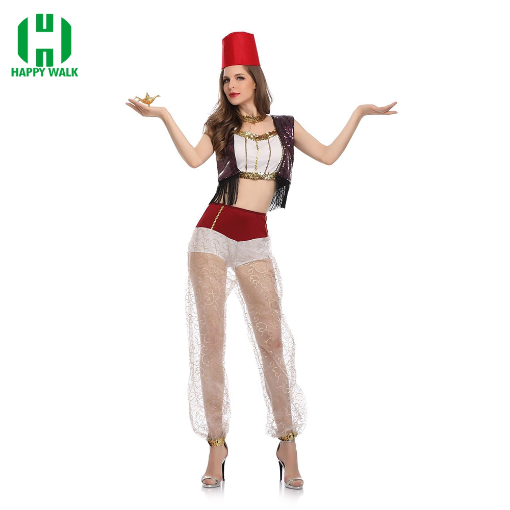 Arabian Costume Dress Aladdin Lamp Costume Adult Women Girls Belly Dance Performance Arab Costume Carnival Halloween Costumes