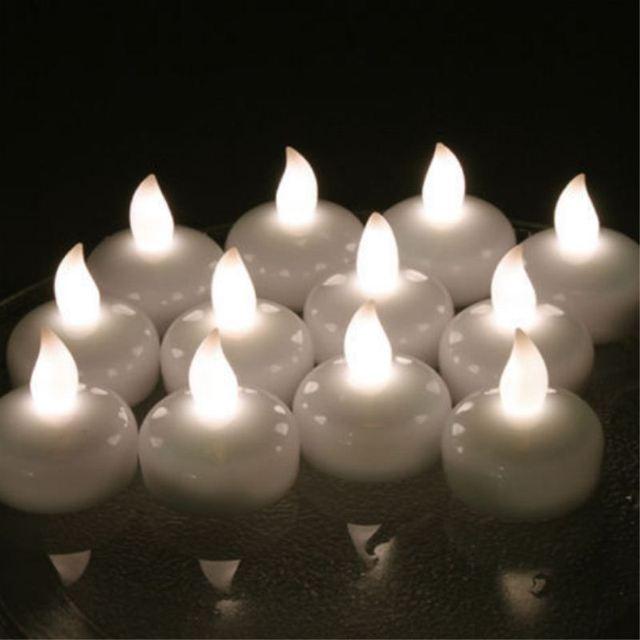 12pcs Waterproof Led Floating Tea Light Flameless Candle Wedding Party Decor