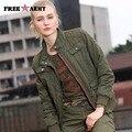 Женская Мода Army Green Куртки Зима Новый Повседневная Пальто и Куртки Британский Стиль Хлопок Теплый Slim Fit женская Одежда GS-8213