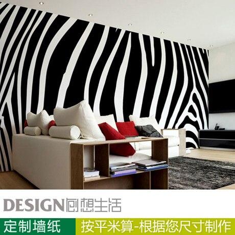 Zebra Print Behang.Us 29 99 Mode Zwart Wit Zebra Print Muurschildering Behang Grote 3d Muurschildering Behang Voor Woonkamer Achtergrond Muur Papier In Mode Zwart Wit