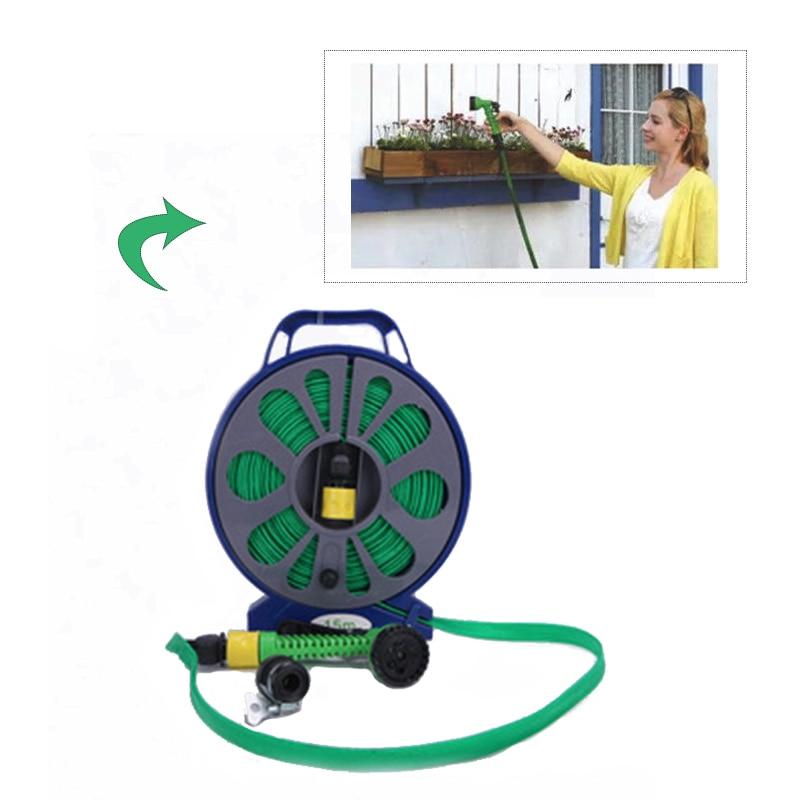 Nowy 50ft płaski gramofon rura wąż dysza natryskowa z podstawą podlewanie ogrodu kwiat Spray pod wysokim ciśnieniem myjnia fajka wodna