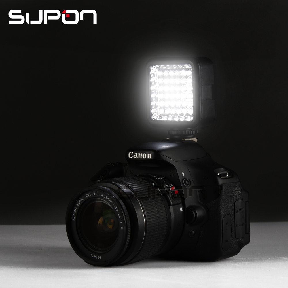 Supon Mini LED 36 Camera flash lamp with Li-ion battery and charger 5500~6500K for DSLR Camera Camcorder DVR