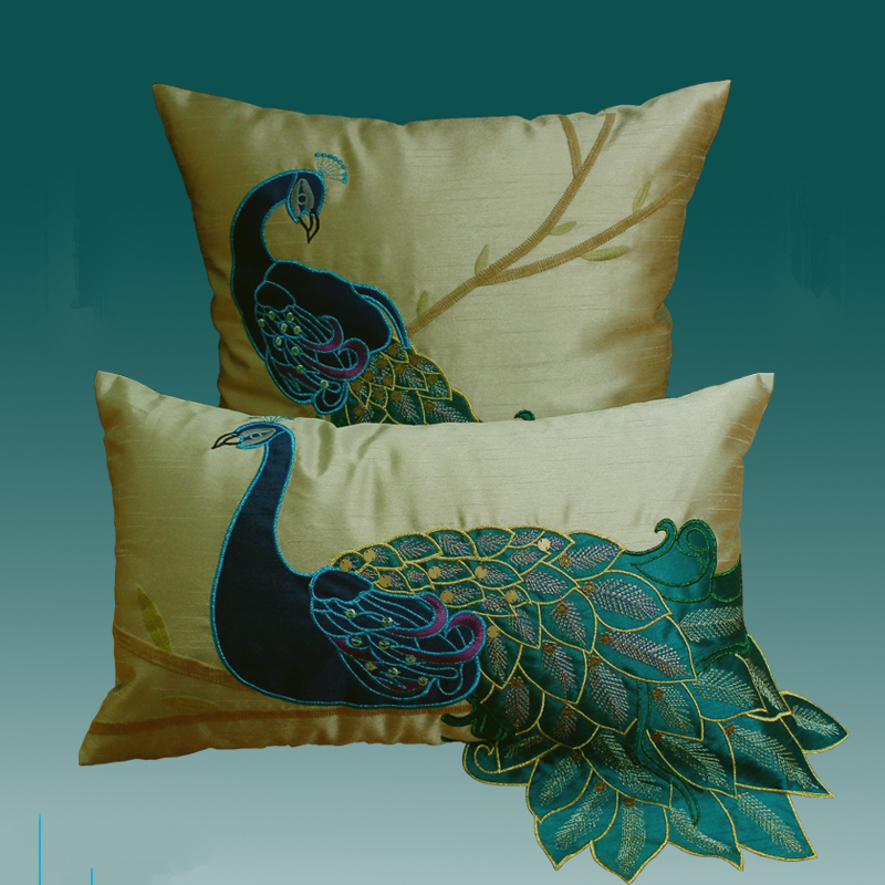 stanoff pillow aviva accessories peacock acc viyet front furniture silk pillows designer