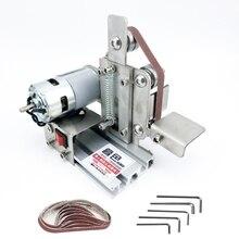Multifunctional DIY Mini Belt Sander Grinder Polishing Grinding Machine Cutter Edges Sharpener belt grinder sanding