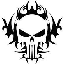 hot deal buy car decals punisher skull car motorcycle truck decals vinyl waterproof outdoor stickers motorcycle exterior accessories jdm