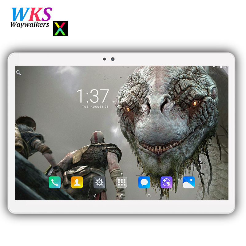 Free shipping 10 inch 3G/4G LTE tablet pc Android 7.0 Octa Core RAM 4GB ROM 64GB Tempered IPS screen bluetooth wifi Tablets+Gift free 10 1 inch tablet 3g 4g lte android phablet tablets pc tab pad 10 ips mtk octa core 4gb ram 64gb rom wifi bluetooth gps
