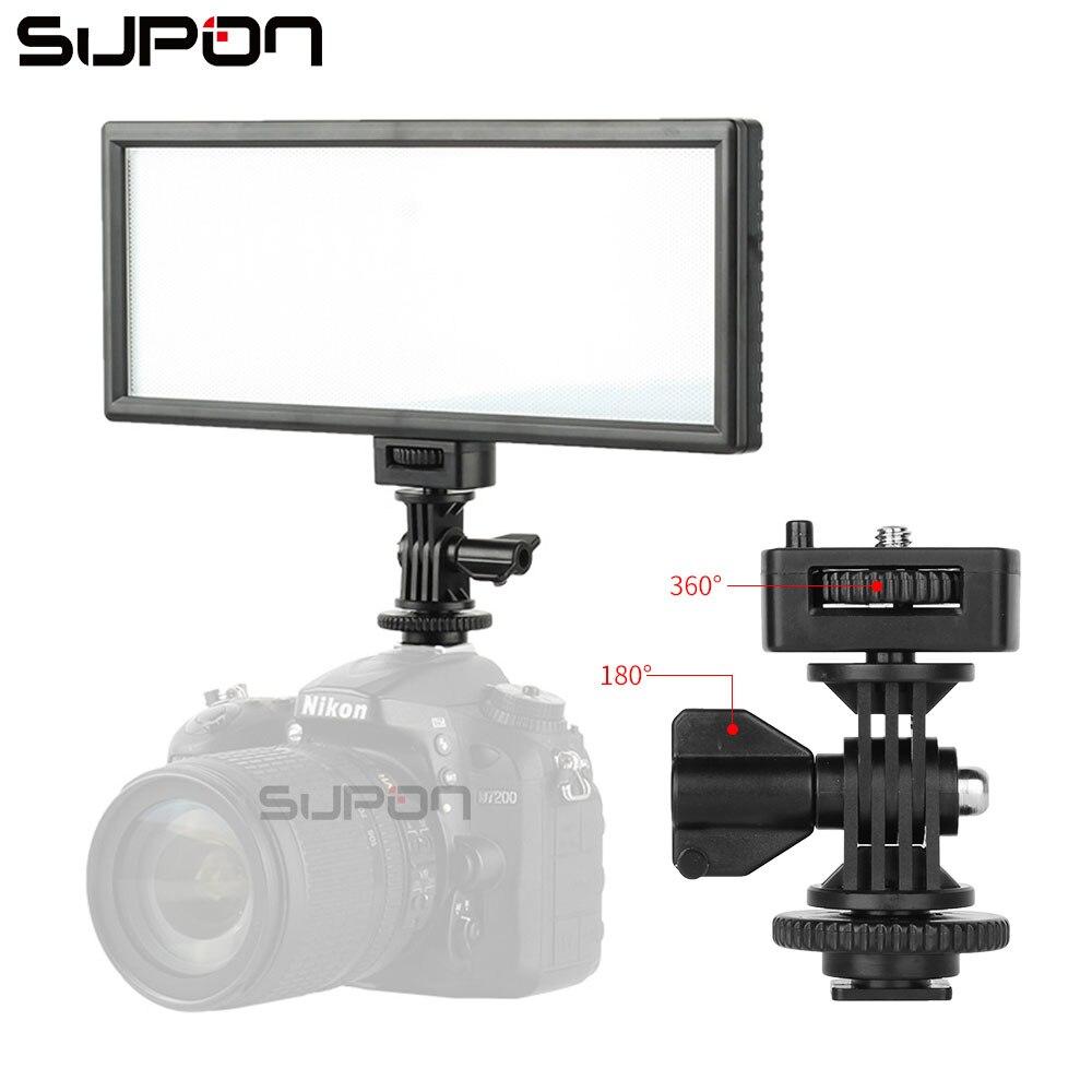 цена на SUPON L132T LED On-Camera Video Light Ultra Thin LCD Bi-Color & Dimmable Photo Studio LED Lighting Lamp Panel for Photography